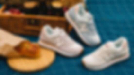 New Balance春日574超粉嫩!乾燥玫瑰色、薄荷綠通通想要,鞋舌還有棕櫚樹插圖