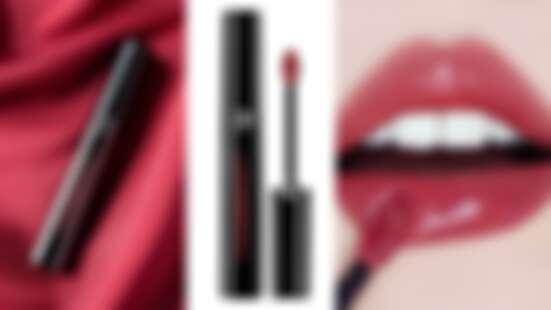 Armani全新黑管「奢華訂製鏡光水唇釉」,超顯色極亮鏡面光澤卻完全不黏膩,#503濃色玫瑰必收,台灣搶先全球上市