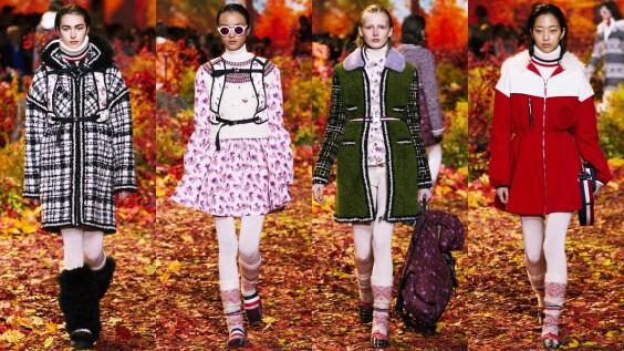 【巴黎時裝週】360度環繞加拿大楓葉林!MONCLER秋冬大走羔羊外套、民俗印花