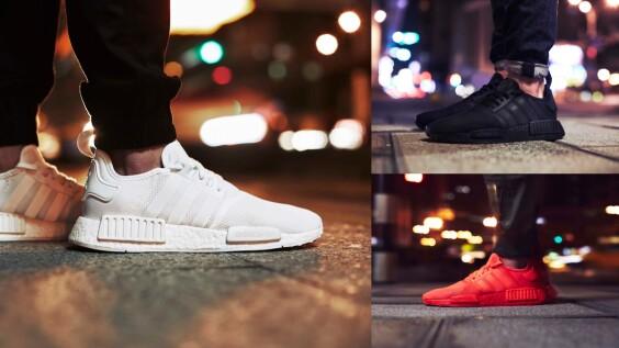 直接進到春夏必敗鞋款第一位!潮鞋霸主NMD再推純粹白、深邃黑、能量紅全新個性配色