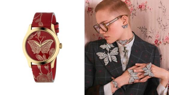 戴上全新「Gucci古馳花園」設計配飾,一同綻放春天氣息!