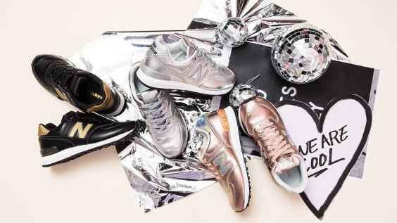 這雙玫瑰金跑鞋光芒太耀眼!New Balance全新推出三款金屬色Glitter Punk系列
