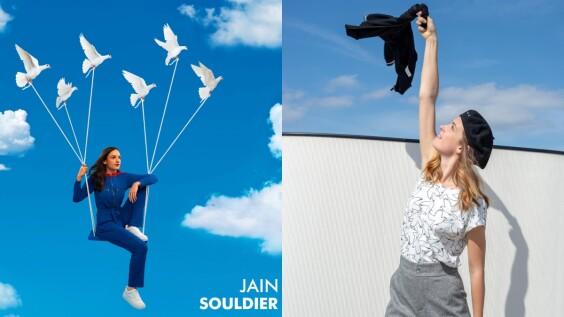 以鮮豔色彩和象徵愛的和平鴿,體現agnès b.與法國創作歌手Jain的跨界藝術想像!