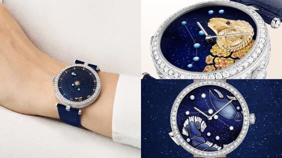 史上最浪漫!不只十二星座,連整座太陽系都成了Van Cleef & Arpels腕錶設計主題