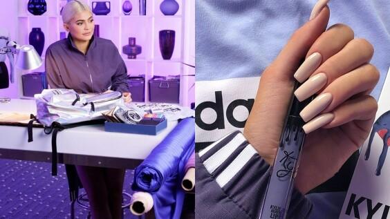 """台灣同步全球開賣!Kylie Jenner以自己最愛的唇彩顏色""""夢幻粉霧紫""""推出adidas Originals聯名系列"""