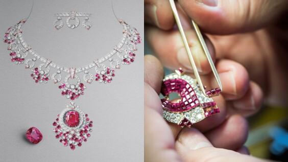 Van Cleef & Arpels梵克雅寶「Treasure of Rubies」頂級珠寶系列的四大工藝