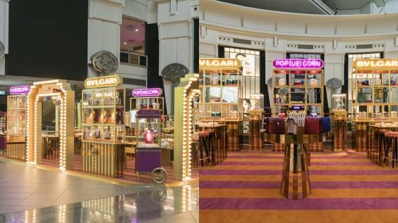 完美複製羅馬精品店的店景!BVLGARI在台北101打造期間限定POP UP CORN STORE