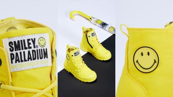 下雨天也不憂鬱!PALLADIUM聯名Smiley打造讓人心情大好的超萌微笑防水軍靴
