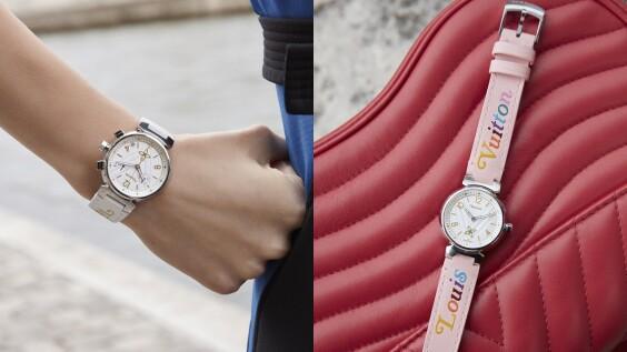 LV迷請收!糖果色錶帶、立體波浪面盤...Tambour New Wave手錶俏皮上市