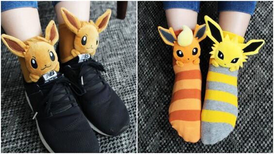 超可愛伊布能陪你出門!寶可夢中心推10款「伊布立體襪」,隨時都在腳上探出大頭,逼神奇寶貝迷全包啊~
