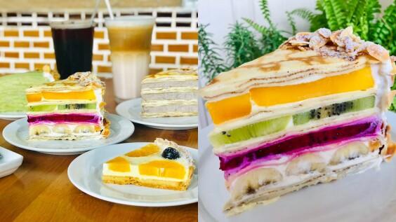 【宜蘭美食】《Gather食聚》台版「HARBS」必吃5款甜點,超美味水果千層蛋糕、芋泥千層、抹茶千層……