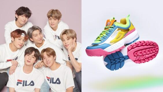 同步韓國上市!FILA推出半透明拼接DISRUPTOR II NAYKID老爹鞋,更找上BTS擔任全球代言人