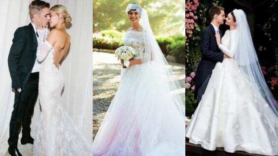 小賈夫婦、皇室婚禮、好萊塢影星、超模女神...歐美名人夢幻嫁紗盤點特輯!
