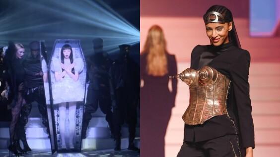 【巴黎高訂週】「時尚頑童」Jean Paul Gaultier畢業作用「葬禮」開場,短裙女模從棺材中復活,幽默呼籲:高訂不死!