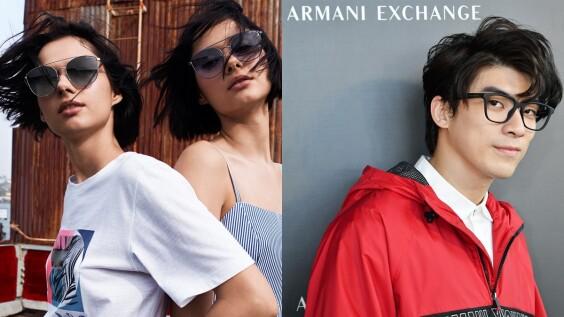 連林哲熹也卯起來掃貨!Armani Exchange首次與小林眼鏡合作,推出春夏必備糖果色墨鏡