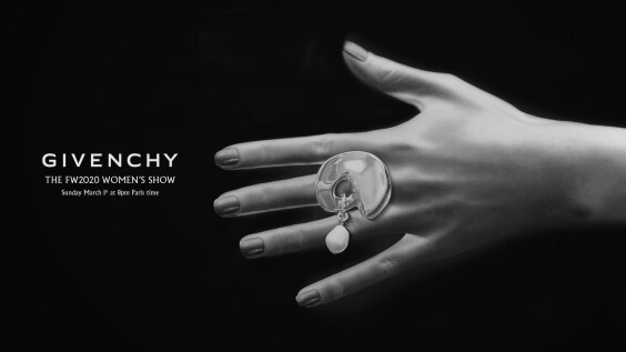 2020秋冬巴黎時裝週|Givenchy時裝秀直播線上看!將在3/2 凌晨3點登場