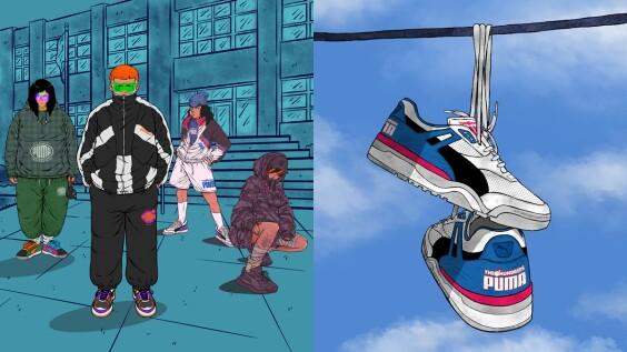 潮流迷不容錯過!PUMA SELECT攜手炸彈潮牌THE HUNDREDS推出復古跑鞋、帥氣運動裝束