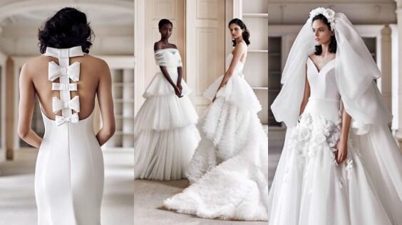 如雕塑品般的雪白色夢幻嫁紗—Viktor & Rolf 2021春夏婚紗系列報到!