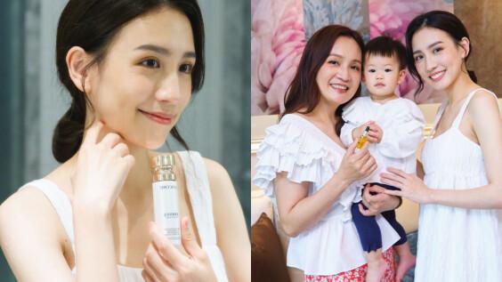 一家三代都好美!最紅的少女媽媽蔡昕言給女兒的美容忠告:「要像照顧豆腐一樣照顧自己的臉!皮膚澎潤乾淨的女人最美!」