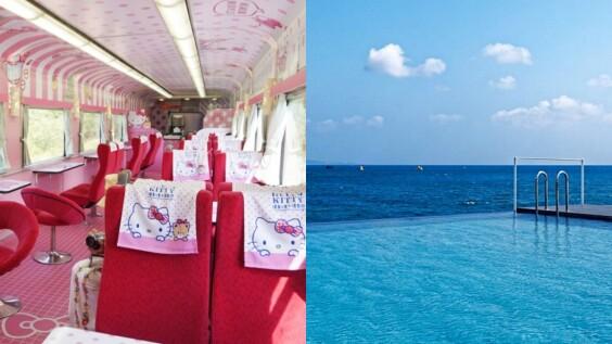 最可愛的旅行!搭乘「Hello Kitty環島之星列車」遊墾丁,滿車粉紅泡泡外,還有純白鳥居、無邊際泳池等你