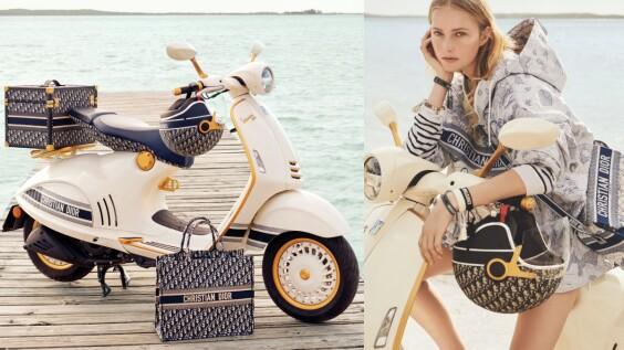 超狂聯名再一發!Dior聯手偉士牌Vespa推出聯名摩托車等老花週邊商品,點入看上市日期與購買通路
