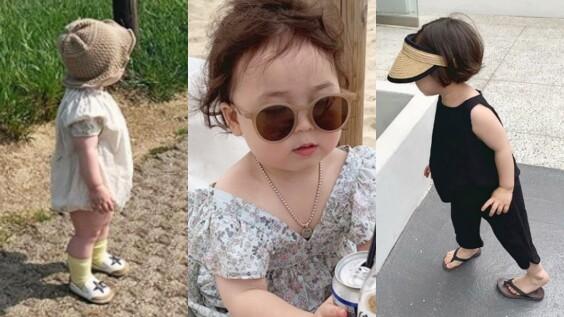 跟著韓國小萌娃的夏日穿搭範本,時髦度過今年盛夏!