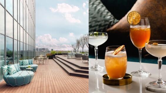 上班族小酌、解悶新去處!國泰萬怡酒店14樓高空酒吧開幕,喝茶酒享微醺、配270度城市美景超紓壓