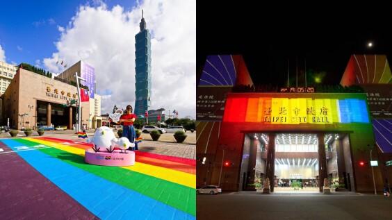 台北市政府挺同志大遊行!3小時「彩虹燈光投影秀」登場,配上地景「彩虹起跑線」擁抱多元