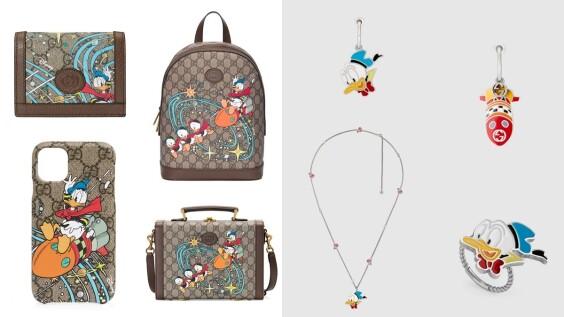 米奇後再出招!Gucci再推唐老鴨手機袋、後背包、皮夾,還有手環、戒指、項鍊等童趣飾品系列