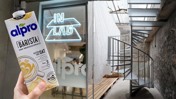 《IN LAB》打造alpro植物奶全新精品咖啡店!實驗性簡約時髦空間,4款風味植物奶咖啡拿鐵必喝