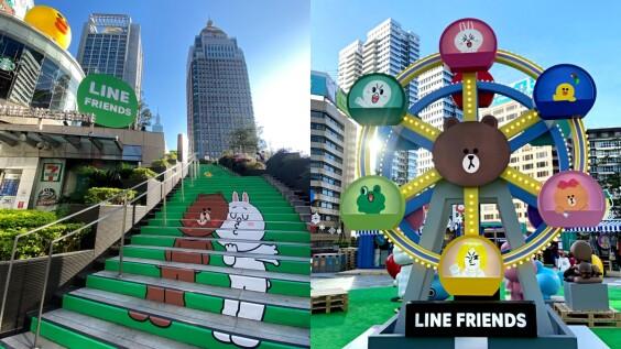 LINE FRIENDS在統一時代百貨開聖誕趴!5米高熊大摩天輪、十大打卡點超萌登場,成冬季最療癒天堂