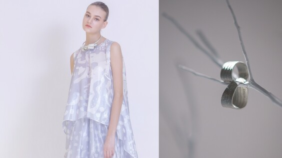 ISSEY MIYAKE 2020全新「一生樹語」限定配飾,有如在極光雪花交錯銀白世界中,完美綻放出堅定且柔軟的動人姿態