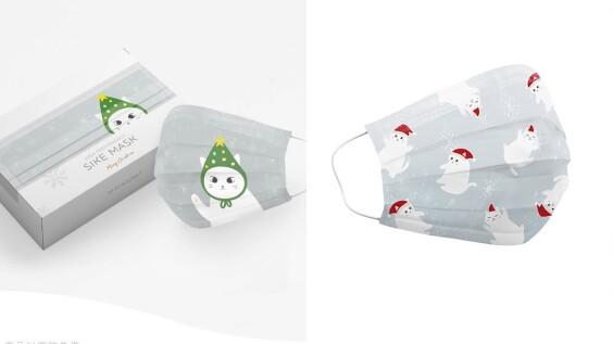 貓咪口罩太萌了!德泰舒康推出聖誕限定花色口罩,還打造2020新北耶誕城「白貓口罩販賣機」