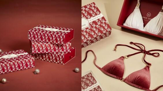 聖誕交換禮物首選!Wave Shine聖誕系列楓紅色、青石藍比基尼,送禮自用都適合