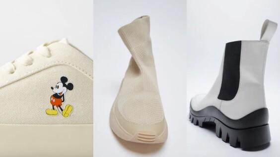 米奇小白鞋、Vibram底登山靴、保暖襪靴,Zara全新一季必買前3鞋履名單!