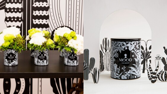 CLUB DESIGNER首度推出自有香氛,MOOD心旅程精油蠟燭黑白印花瓶身太美麗,還有神秘溫暖香味