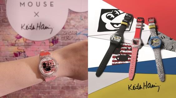 米奇控一定要搶!Swatch攜手塗鴉大師Keith Haring推出3款萌趣手錶,還有比人高的巨型手錶