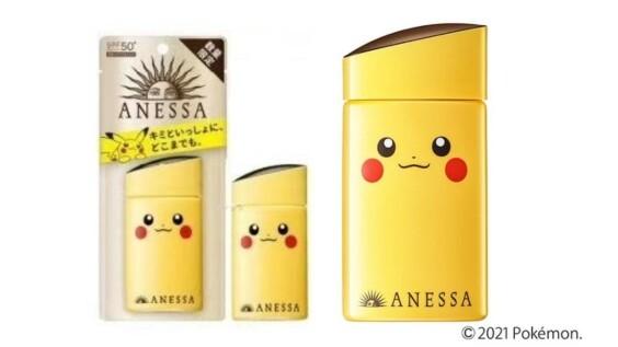 安耐曬ANESSA推出史上最可愛寶可夢限定版包裝!皮卡丘、伊布、傑尼龜通通有,背面還是小尾巴圖案