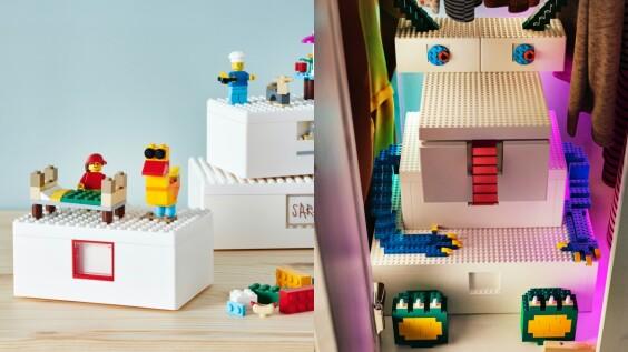 搶購一空IKEA x樂高聯名系列登台開賣!所有零件都能組裝,讓收納盒變身獨一無二居家飾品