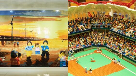 中台灣首間樂高專賣店來了!20萬顆積木拼貼高美濕地馬賽克牆、耗時3個月打造洲際棒球場造景必朝聖