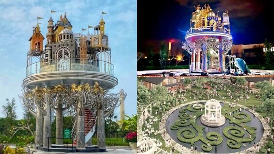 宜蘭最新打卡地標「赫蒂法莊園」夢幻登場!占地6000坪,歐風空中城堡、生命之樹鏡池超好拍,夜晚點燈美呆了