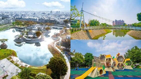 屏東新網美景點「復興公園」啟用!大片水域及林蔭如走進「水岸森林」,還有拱橋、環湖步道太適合約會