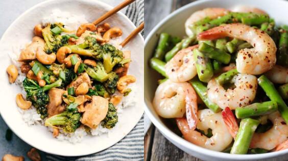 3道夏日低脂清炒:蘆筍炒蝦仁/綠花椰菜炒雞丁/杏鮑菇雙椒炒蛋 食譜來了!