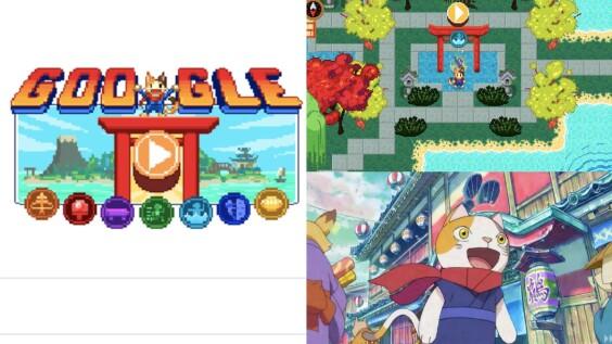 超好玩!Google首頁推東奧限定「冠軍島運動會」RPG遊戲,化身貓忍者挑戰7種奧運運動,射箭、桌球、攀岩讓你玩到停不下來