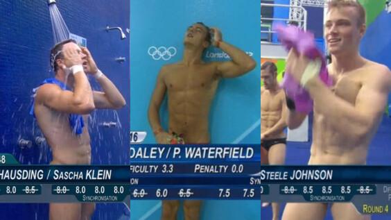 奧運跳水比賽完全女性福利時間!「萬惡計分板」太犯規,跳水帥哥鮮肉一秒全裸入鏡