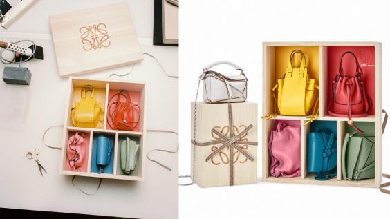 Loewe迷你經典包禮盒上架啦!絲緞光質感木盒包裝,售價+商品完整細節一次看
