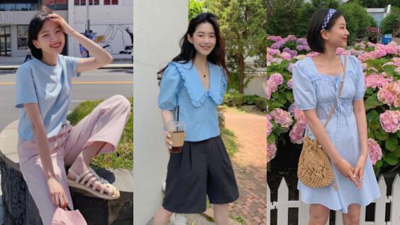 女生夏天穿搭的清新配色!「寶寶藍」 4 種風格提案,氣質甜美、俏皮酷甜,簡單打造好感 LOOK !
