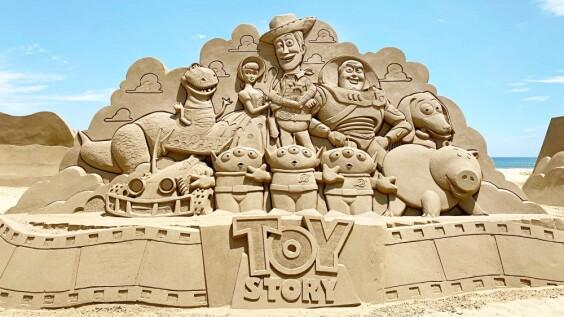 2021福隆沙雕季有《玩具總動員》!攜手迪士尼打造18座超萌沙雕太想去