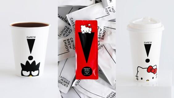 《CAFE!N》和三麗鷗家族聯名啦!超萌HELLO KITTY、酷企鵝躍上外帶咖啡杯
