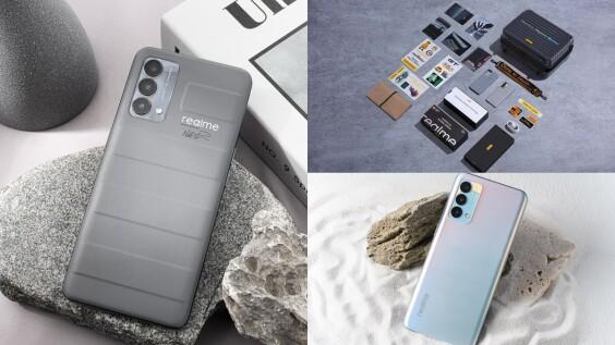 realme GT大師版手機時髦升級!旅行箱機身設計,沉穩灰、夢幻晨曦色上市